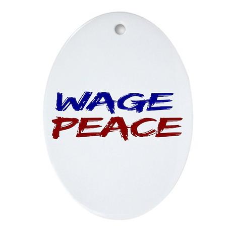 Wage Peace Oval Ornament