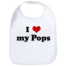 I Love my Pops Bib