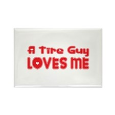 A Tire Guy Loves Me Rectangle Magnet (100 pack)