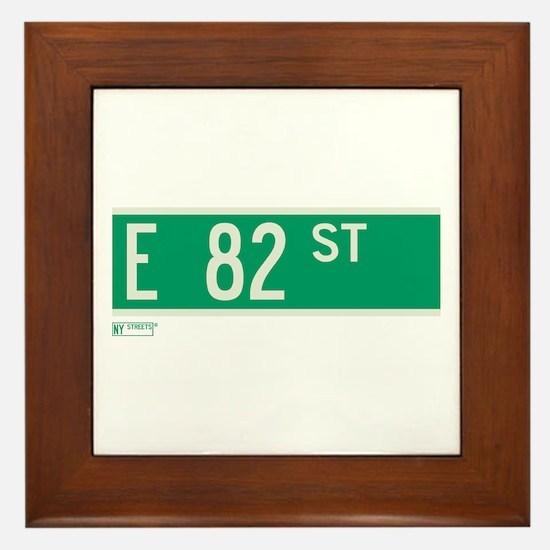 82nd Street in NY Framed Tile