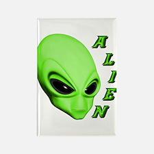 A.L.I.E.N. Green Rectangle Magnet