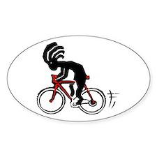 Kokopelli Bicycle Oval Decal