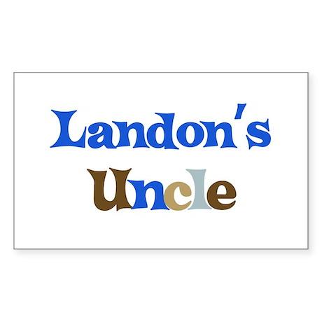 Landon's Uncle Rectangle Sticker