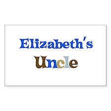 Elizabeth's Uncle Rectangle Decal