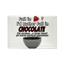 Fall in Chocolate Rectangle Magnet