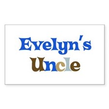Evelyn's Uncle Rectangle Decal