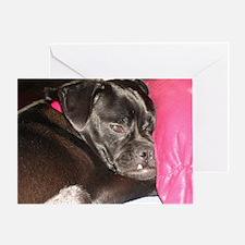Sleepy Pug Mug Greeting Card