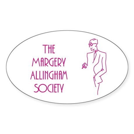 Margery Allingham Society Oval Sticker