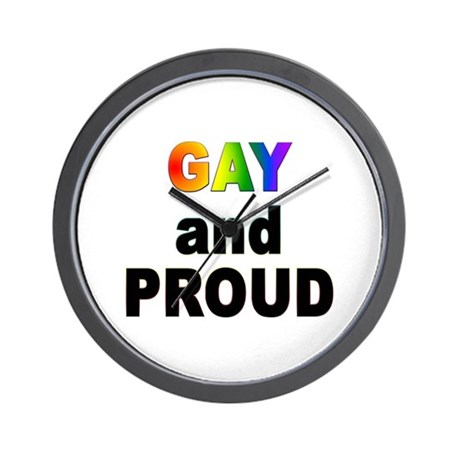 GAY and PROUD Wall Clock