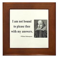 Shakespeare 13 Framed Tile