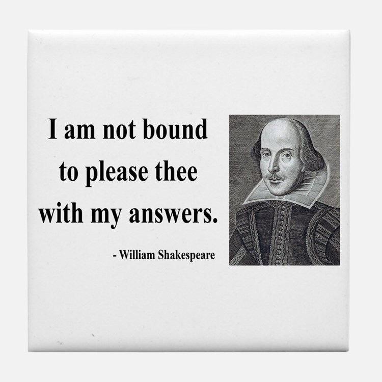Shakespeare 13 Tile Coaster