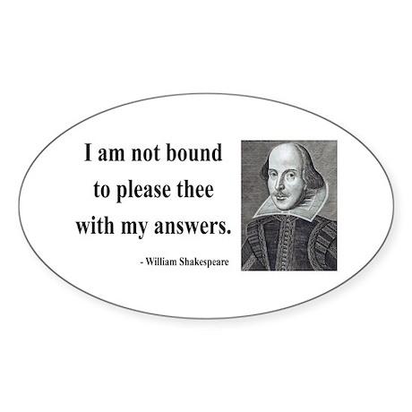 Shakespeare 13 Oval Sticker