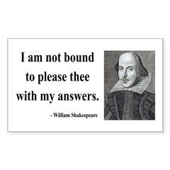 Shakespeare 13 Rectangle Decal