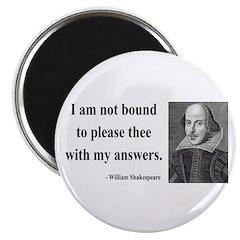 """Shakespeare 13 2.25"""" Magnet (100 pack)"""
