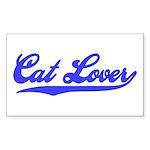 Cat Lover - Blue Swoosh Rectangle Sticker