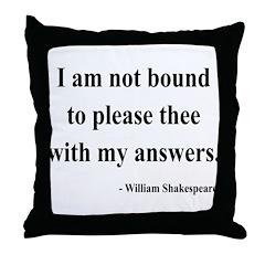 Shakespeare 13 Throw Pillow