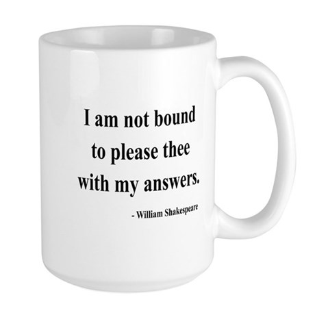 Shakespeare 13 Large Mug