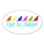 Rainbow Opt to Adopt Oval Sticker