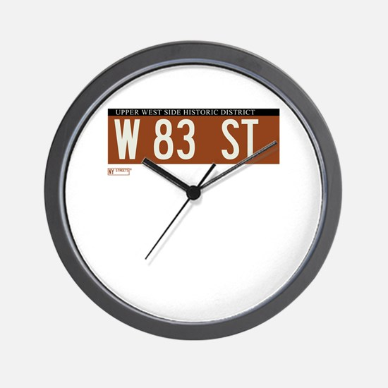 83rd Street in NY Wall Clock