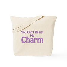 Purple My Charm Tote Bag