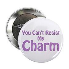 "Purple My Charm 2.25"" Button"