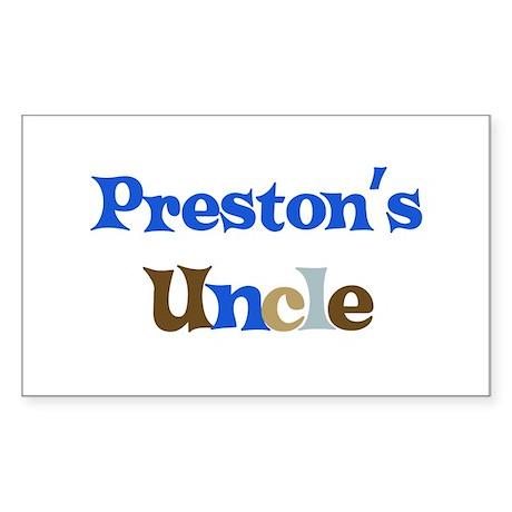 Preston's Uncle Rectangle Sticker