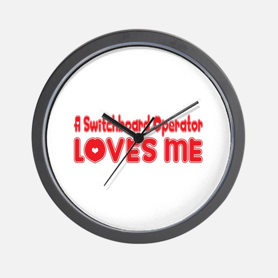 A Switchboard Operator Loves Me Wall Clock