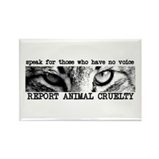 Report Animal Cruelty Cat Rectangle Magnet