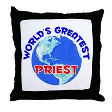 World's Greatest Priest (E) Throw Pillow