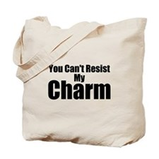 B&W Resist My Charm Tote Bag