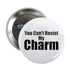 "B&W Resist My Charm 2.25"" Button"