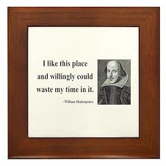 Shakespeare 15 Framed Tile