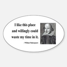 Shakespeare 15 Oval Decal