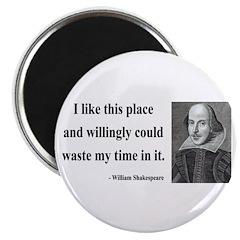 """Shakespeare 15 2.25"""" Magnet (10 pack)"""