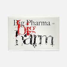 Big Pharma = Big Harm Rectangle Magnet
