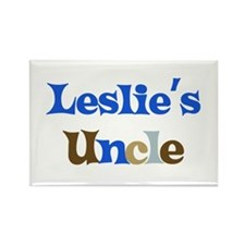 Leslie's Uncle Rectangle Magnet