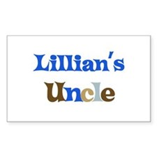 Lillian's Uncle Rectangle Decal