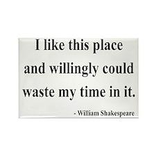 Shakespeare 15 Rectangle Magnet