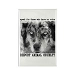 Report Animal Cruelty Dog Rectangle Magnet (10 pac