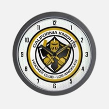 Cal Knights Hockey Wall Clock White
