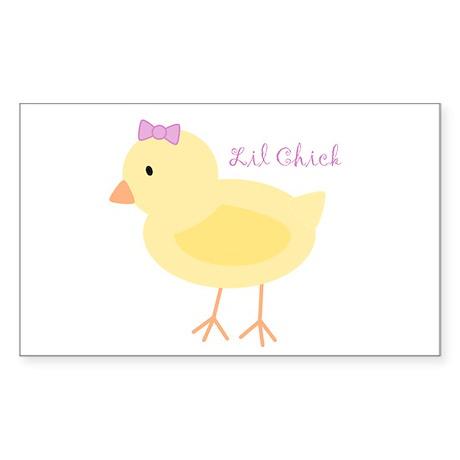 Lil Chick Rectangle Sticker