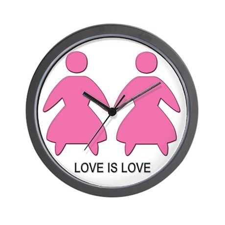 Love is Love (Lesbian) Wall Clock