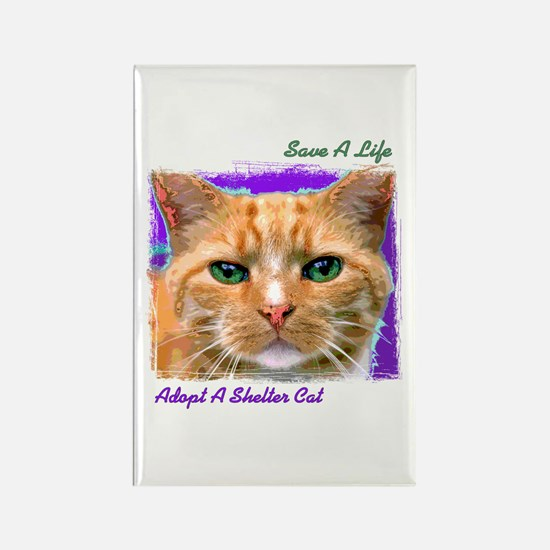 Save a Life - Adopt a Shelter Rectangle Magnet