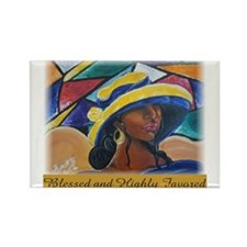Blessed & highly favored /Rectangle Magnet