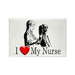 I Love My Nurse Rectangle Magnet (10 pack)