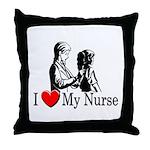 I Love My Nurse Throw Pillow
