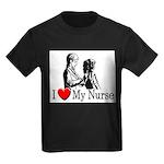 I Love My Nurse Kids Dark T-Shirt