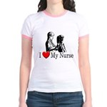 I Love My Nurse Jr. Ringer T-Shirt