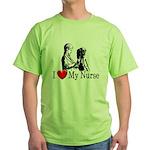 I Love My Nurse Green T-Shirt