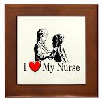 I Love My Nurse Framed Tile